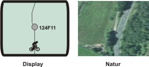 """Wegepunkt 124F11 ist dagegen ein Segen für den Biker. Normalweise wäre man die Teerstraße weitergeheizt, auch wenn Sattelkontakt extra einen kleinen Knick in den GPS-Track gebastelt hat - den sieht man aber nur bei entsprechendem Zoomfaktor. 124F11 sagt dagegen klar: halblinks (""""11 Uhr"""") auf F wie Feldweg, nix Teerstraße!"""